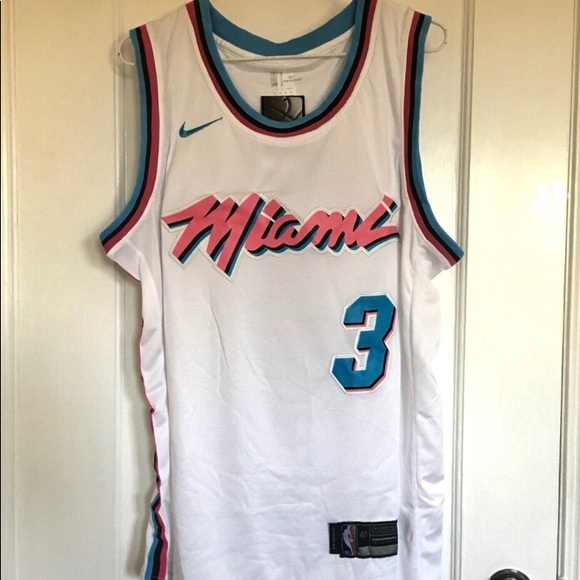 sports shoes 4e739 7b008 Dwayne Wade #3 Miami Heat City Edition Jersey NWT
